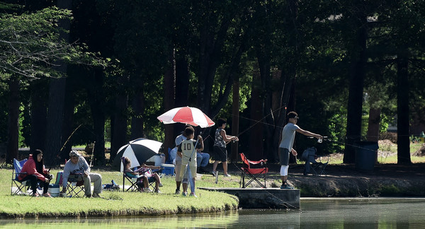 Youth Fishing Day in June at Dellinger Park attracted young anglers of all ages.