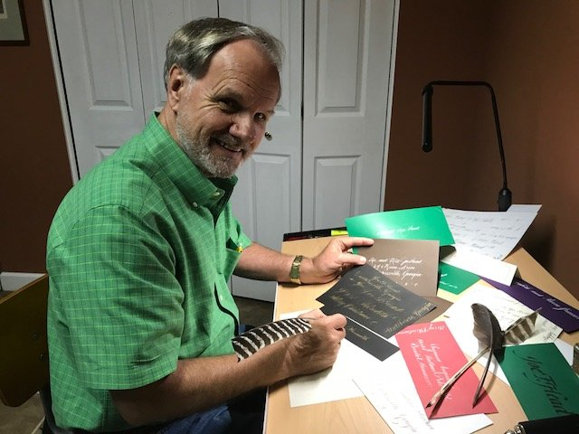 Scribal artist Joe Head will present a Friends of the Library-sponsored program on calligraphy Tuesday evening at the Cartersville Public Library.