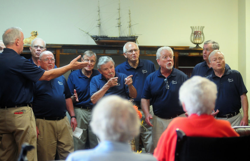 The a cappella group More Than 4 entertains the residents of Star Manor Personal Care Home during last year's Cartersville Community Service Day.
