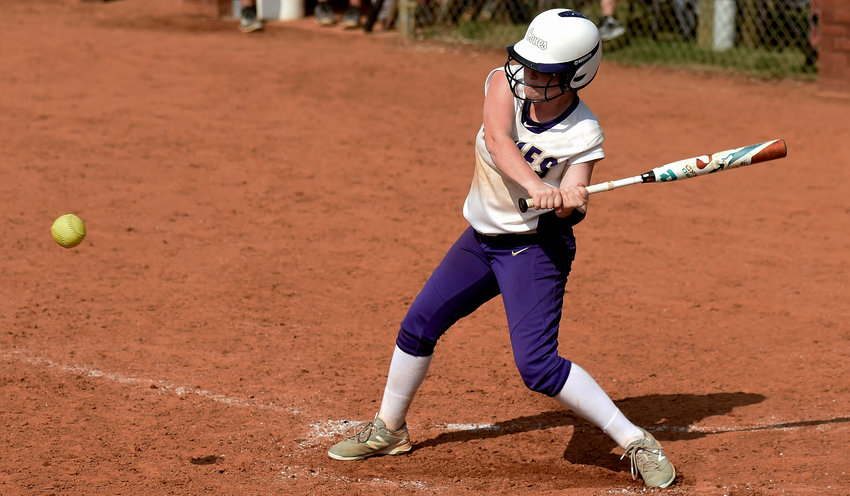 In this file photo, Cartersville sophomore Anna Kate McElhaney picks up a hit against Troup County in a home game this season. McElhaney earned first-team all-Region 5-AAAA honors this year.