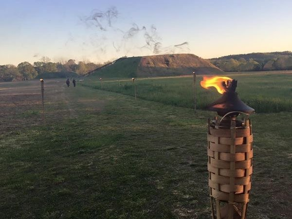 Etowah Indian Mounds' Nighttime Hayrides and Storytelling event will feature about 230 tiki torches Saturday.