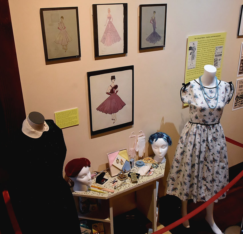 """Clothing, headwear and jewelry of the 1950s is part of the Bartow History Museum's """"Boom: Bartow in the '50s"""" exhibit, which runs through March 30, 2019."""