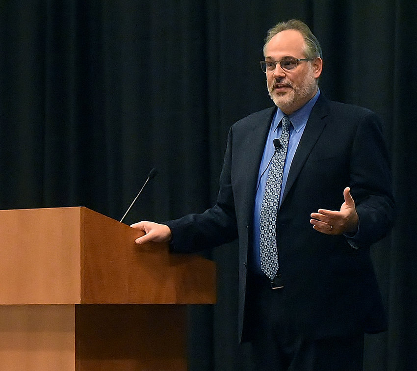 Dr. Jeffrey Murawsky, the Chief Medical Officer of Sunrise Hospital and Medical Center in Las Vegas, spoke at the Clarence Brown Conference Center in Cartersville Thursday.
