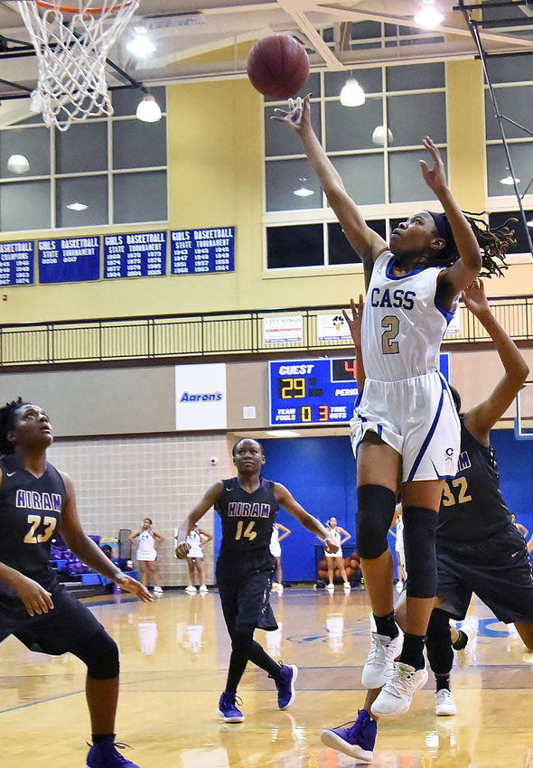Cass sophomore Londaisha Smith shoots a layup during Friday's home game against Hiram.