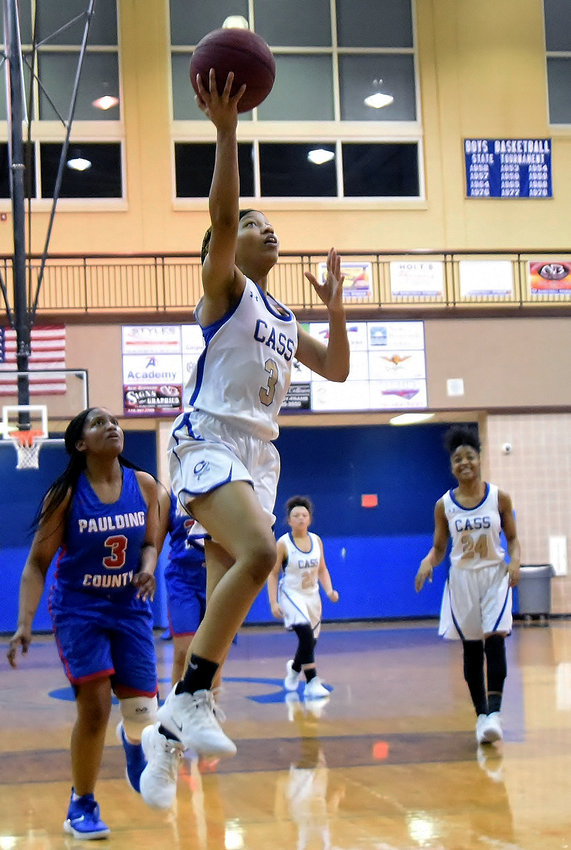 Cass senior Sharia Wade goes up for two of her game-high 22 points during a 67-47 home win over Paulding County on Friday.