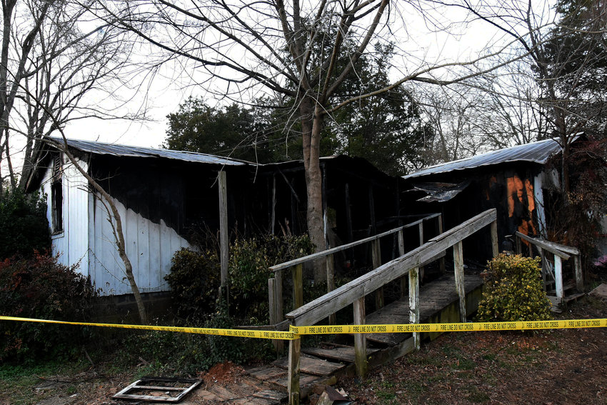 This house at the Barnsley Gardens Road and Rock Fence Road intersection near Adairsville was the scene of a deadly fire Tuesday morning.