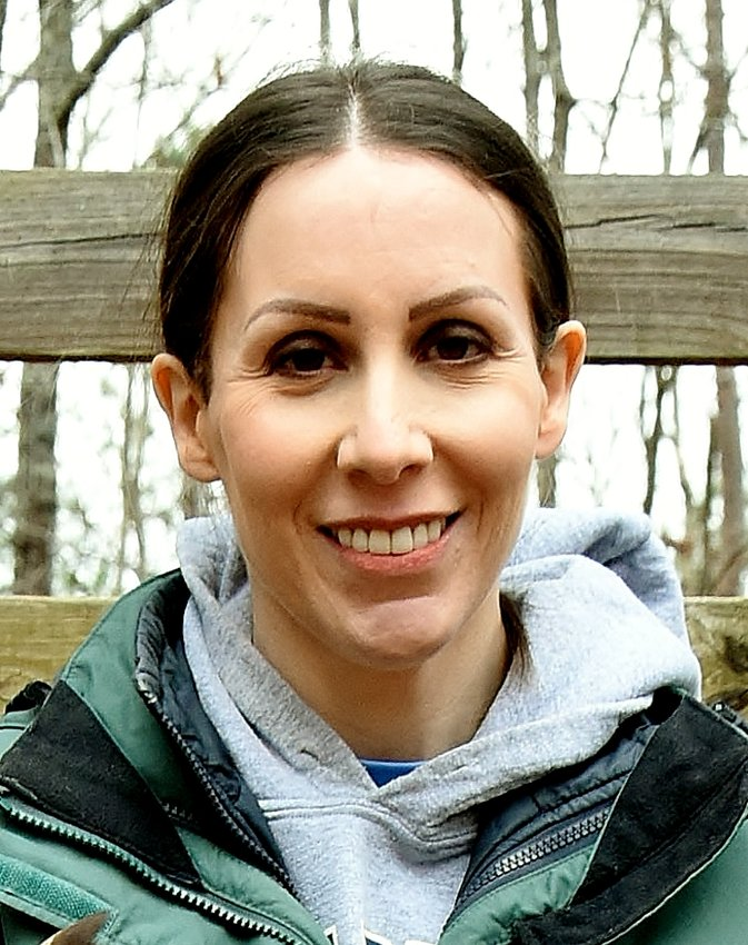 """Erin Zaballa, an educator at Pettit Preserve, will be showing examples of different ways animals use bubbles at the """"Bubbles in Nature Program and Hike"""" at the Preserve Saturday."""