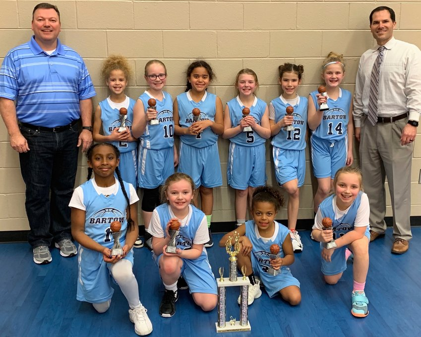 The Bartow County Parks and Recreation Department 8-and-under girls basketball team finished second at the District 5 tournament in Dalton. The team qualified for the upcoming Georgia Recreation and Park Association Class A state tournament.