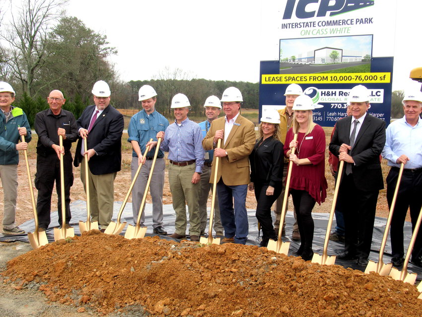 The roughly $30 million, 62-acre Interstate Commerce Park project officially broke ground in north Bartow Thursday afternoon.