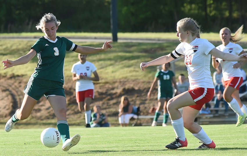 Adairsville senior Hannah Deboard takes on a shot during a game against Lakeview-Fort Oglethorpe last week at Tiger Valley. The Tigers will host Lumpkin County in the first round of the Class 3A state tournament at 6 p.m. Tuesday.
