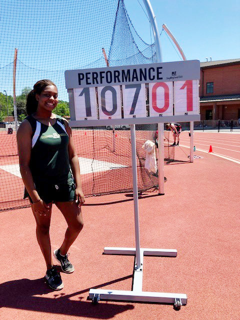 Adairsville's Nakiyah Washington won the Region 6-AAA championship in the discus throw and qualified for sectionals in the shot put this week in Calhoun.