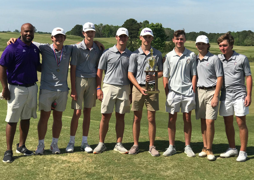 The Cartersville High golf team won its area championship Monday in LaGrange.