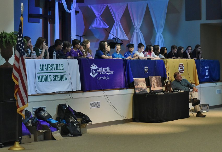 The fifth annual Bartow History Scholars Quiz Bowl, featuring all five of the area's middle schools, was held Sunday at Sam Jones Memorial United Methodist Church.