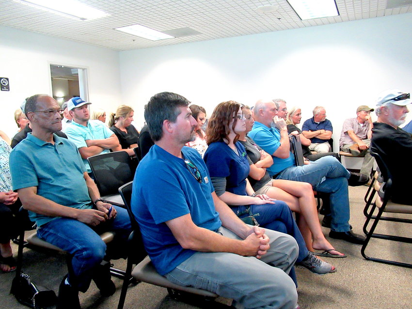 A public hearing on a proposed event space in Taylorsville drew a large crowd to Monday evening's Bartow County Planning Commission meeting.