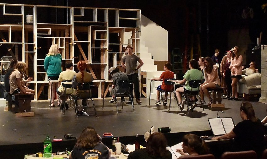 "The Senior High Camp rehearses a scene from ""Matilda the Musical,"" which will open Friday at The Grand Theatre, 7 N. Wall St. in Cartersville."