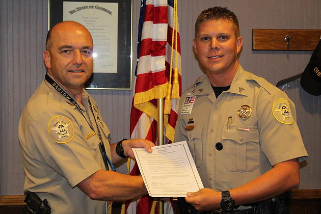 Former Bartow County Sheriff's Office Sgt. Clayton Patterson, pictured right, was arrested for allegedly driving under the influence following an automobile accident in January. A judge's order Tuesday, however, would bar jurors from hearing the results of his blood tests as evidence.
