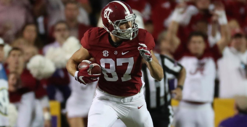 Alabama redshirt junior and Cartersville High product Miller Forristall is looking to take over the starting tight end role this season for the Crimson Tide.