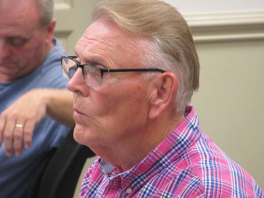 Larry Pratt spoke on behalf of applicant AL8, LLC at Thursday evening's Adairsville City Council meeting.