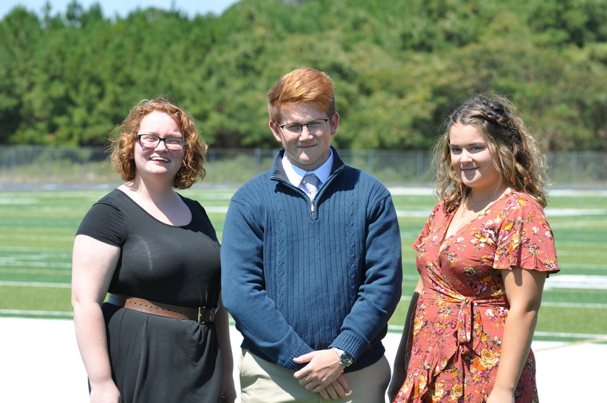 Among Adairsville High School's AP Scholars for 2018-19 are, from left, Bryana Candelaria, Brandon Lawhorn and Audrey Mixon.
