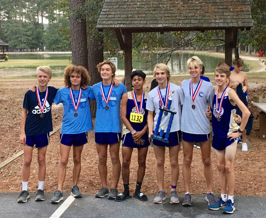 The Cartersville High cross country team poses after winning the Cass-Cartersville Invitational Tuesday at Dellinger Park.