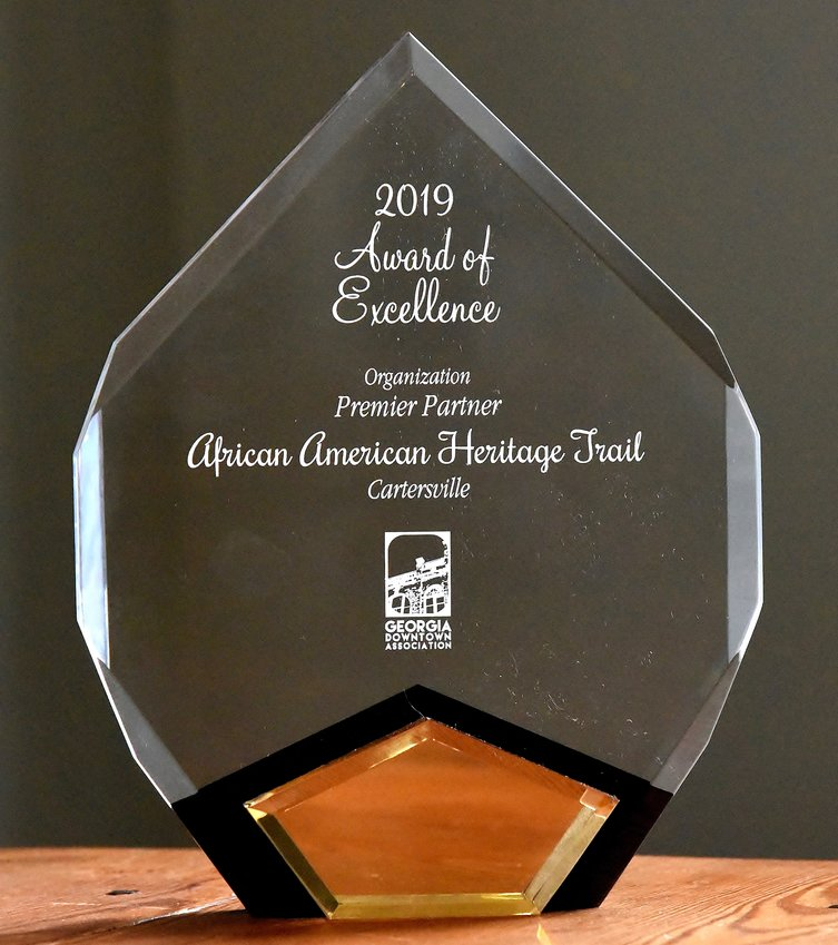 Bartow's African-American Heritage Trail won the 2019 Award of Excellence from the Georgia Downtown Association.