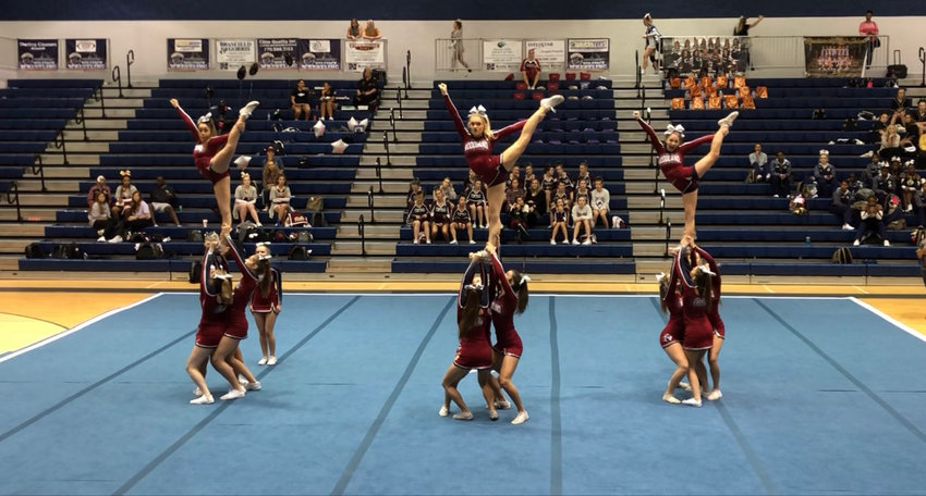 The Woodland competition cheer team won a fifth consecutive competition to begin the season after placing first Saturday at North Paulding.