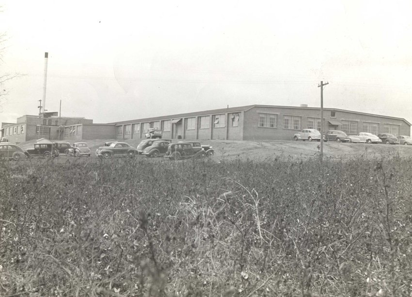This photo shows the Bandy Building in 1945.
