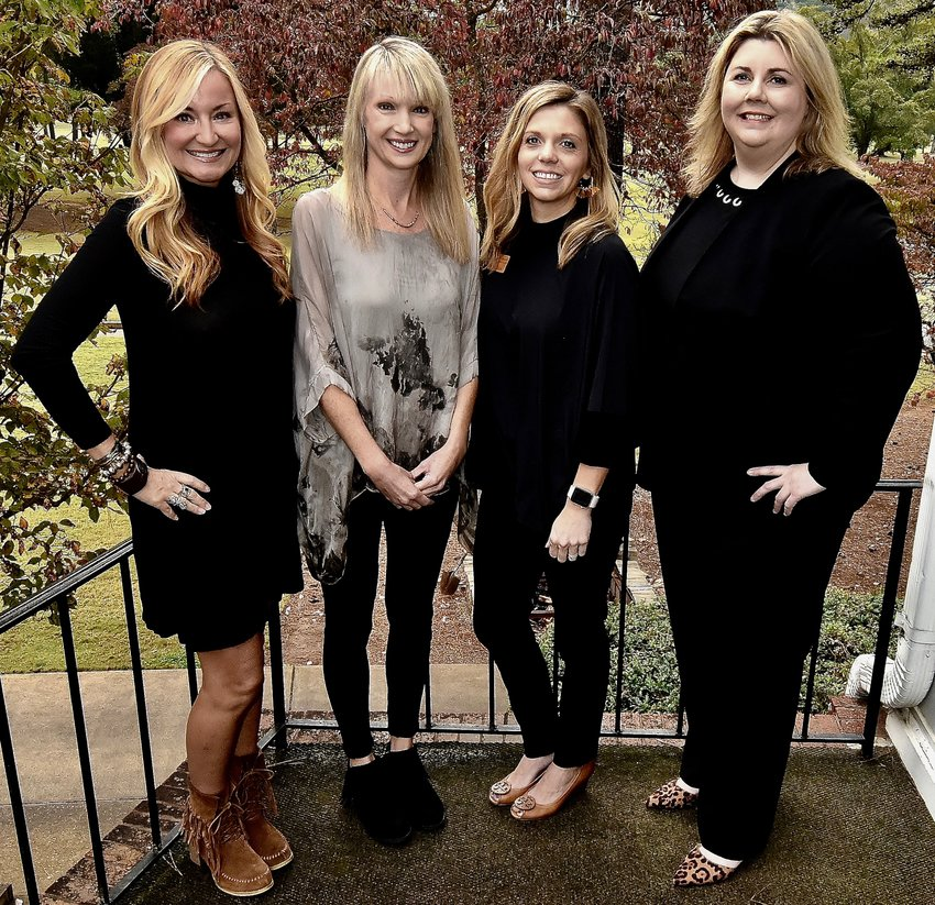 Among those on hand for the Cartersville Service League's 2019 Volunteer of the Year luncheon Tuesday at the Cartersville Country Club were, from left: Amy Morgan, sustaining Service League member; Elizabeth Bowen, CSL 2019 Volunteer of the Year; Brittney Pogue, CSL president; and Leslie McMillan, CSL Volunteer of the Year chair.