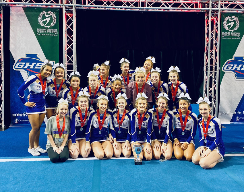 The Cartersville competition cheer team finished runner-up in Class 4A at the state finals Saturday in Columbus.