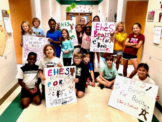 Students at Euharlee Elementary School collected stuffed animals and toys during the entire month of October to donate to the Bartow County Sheriff's Office's HEAT unit to give kids involved in traumatic incidents.