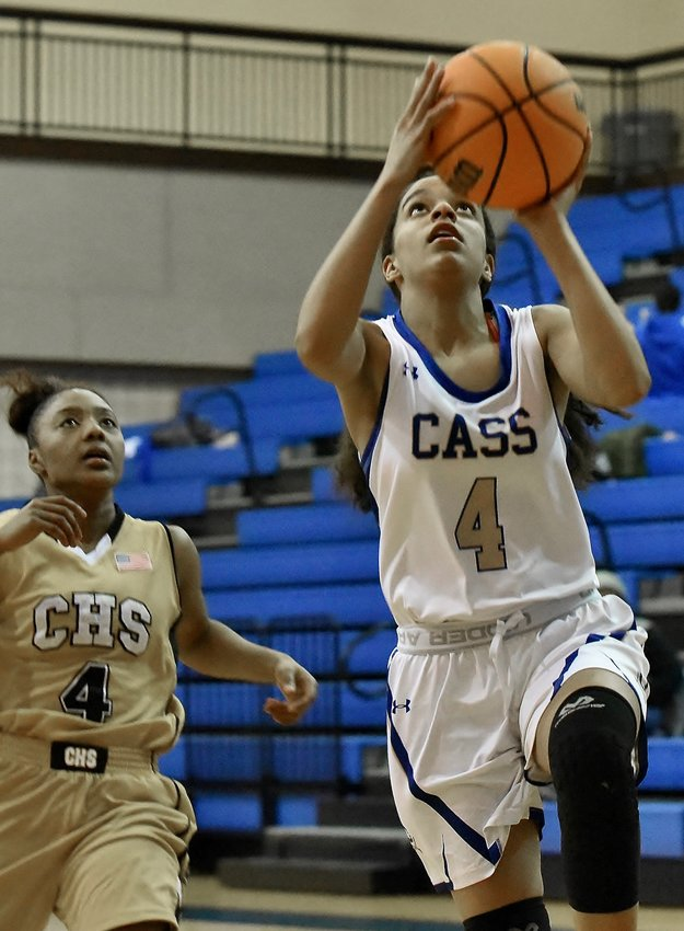 Cass junior Ariana Hames shoots a layup against Carrollton during Friday's home game.