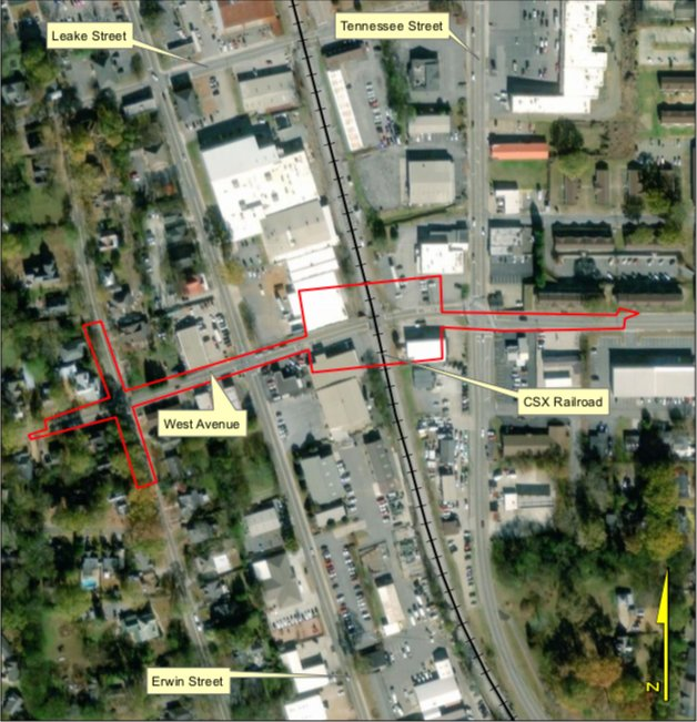 A City of Cartersville-commissioned feasibility study recommends that a $22 million railroad overpass be constructed along West Avenue and Postelle Street to alleviate downtown traffic congestion.