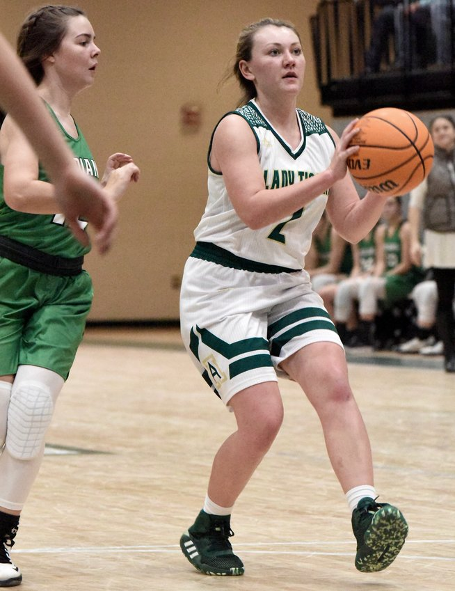 Adairsville senior Alexa Varner steps into a shot against Murray County during Saturday's home game.