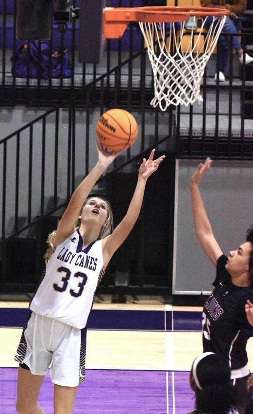 Cartersville freshman Zoe Casey shoots during Tuesday's game against Central, Carroll at The Storm Center.