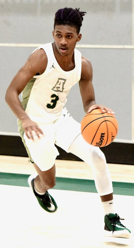 Adairsville senior Savaun Henderson looks to attack against Pickens during Saturday's home game. Henderson scored a career-high 25 points to fuel a come-from-behind win.