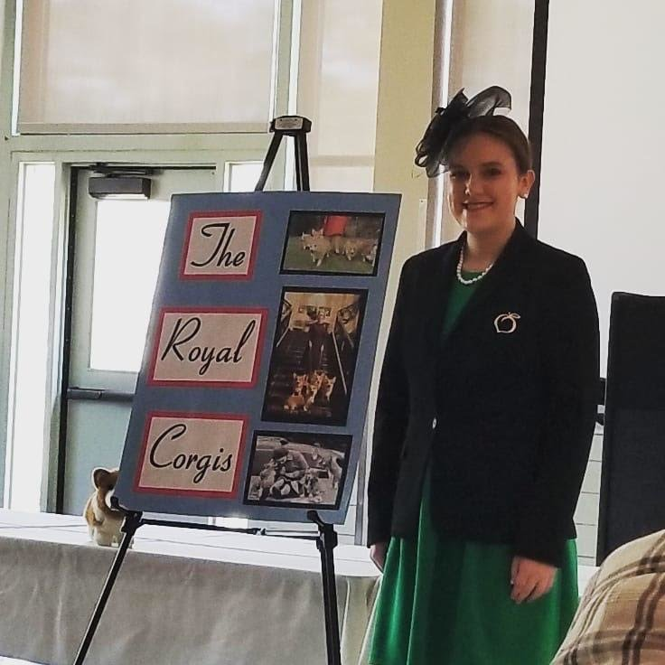 Woodland High sophomore Jaylee Kilgo presented her research on the royal corgis during the recent Project Achievement district competition and will represent Bartow County 4-H at the state competition in July.