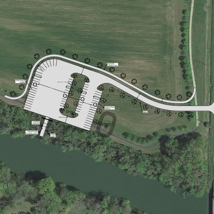 The City of Cartersville is mulling plans for a potential kayak/canoe launch off Douthit Ferry Road near Sam Smith Park.