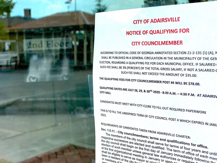 Six individuals qualified last week for the vacant seat on the Adairsville City Council.