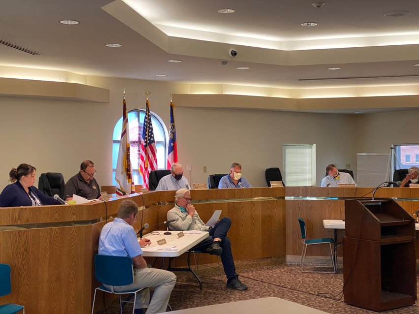 The Cartersville Alcohol Control Board gathers for Wednesday morning's public meeting.