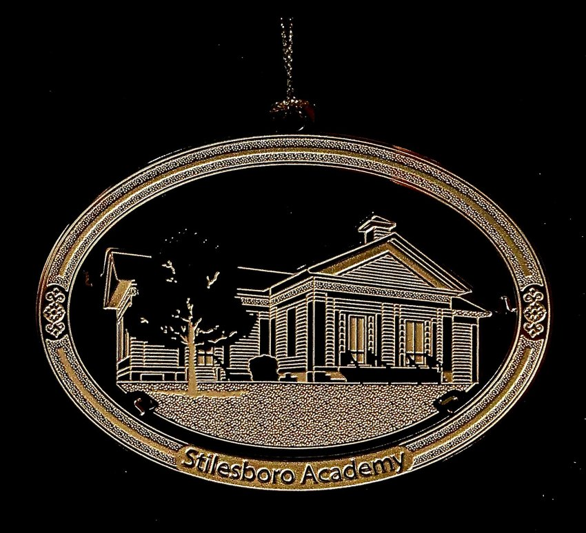 Bartow History Museum's two-dimensional brass collectible ornament will feature an etched image of Stilesboro Academy.