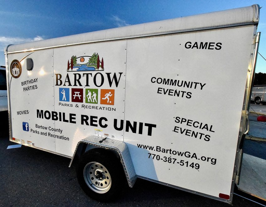 Bartow County Parks and Recreation's Rollin' Rec supplied games and educational information at Hamilton Crossing Elementary's after school program Nov. 6. Launched in October, the mobile unit also is receiving support from Bartow County Fire and Emergency Services and Cartersville Medical Center.