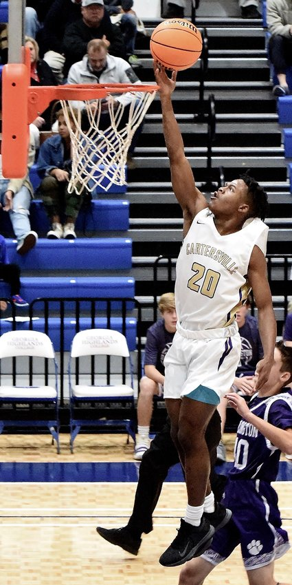 Cartersville's Jynerieus Stanley goes for a layup during a game last season. Stanley and the Canes open the 2020-21 season against Sonoraville Dec. 1 at The Storm Center.