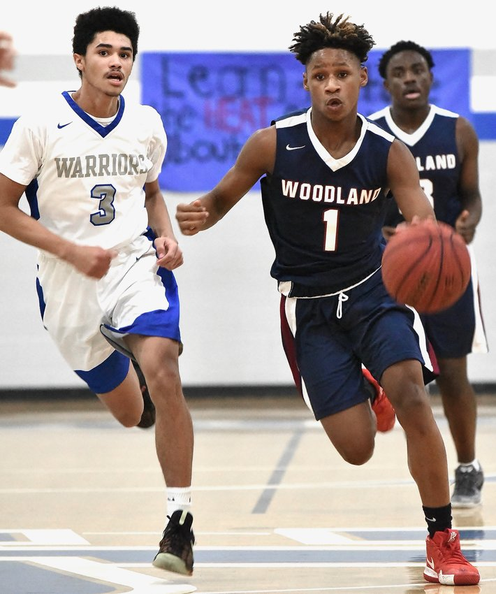 Woodland's K.J. Rogers heads upcourt against Gordon Central during a game last season. Rogers and the Wildcats are slated to open the year Dec. 1 at East Paulding.