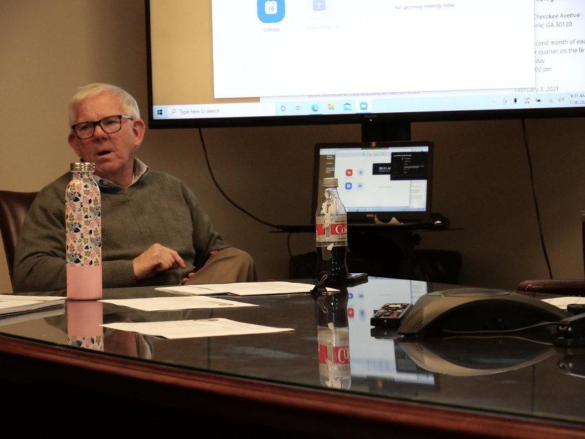 Cartersville-Bartow Metropolitan Planning Organization Transportation Planner Tom Sills at Wednesday morning's public meeting.