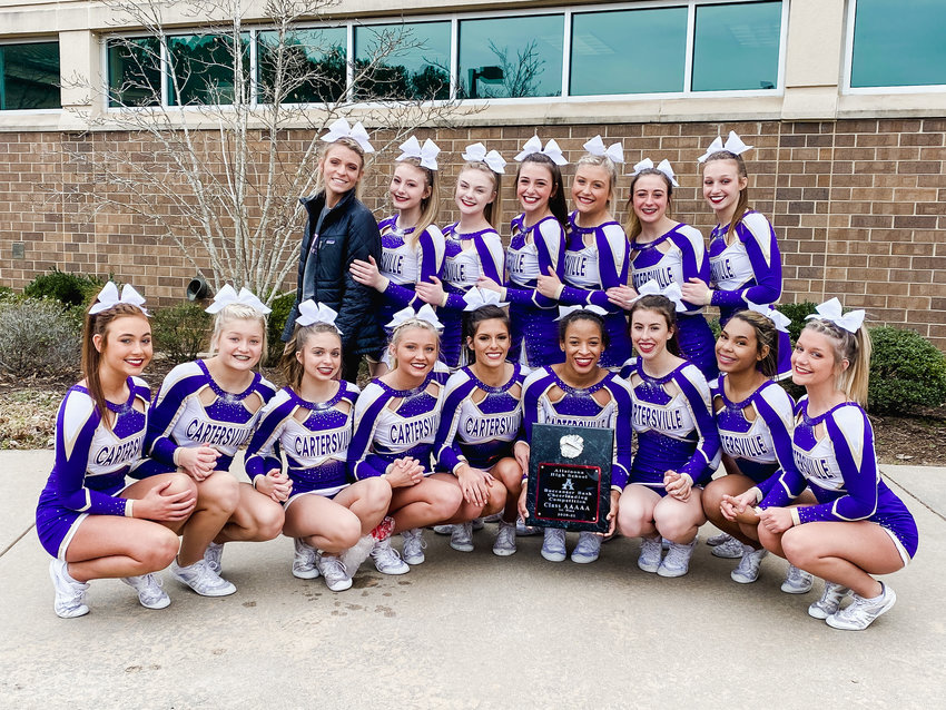 The Cartersville competition cheer team finished first out of five teams in Class 5A at the Buc Bash Saturday at Allatoona.