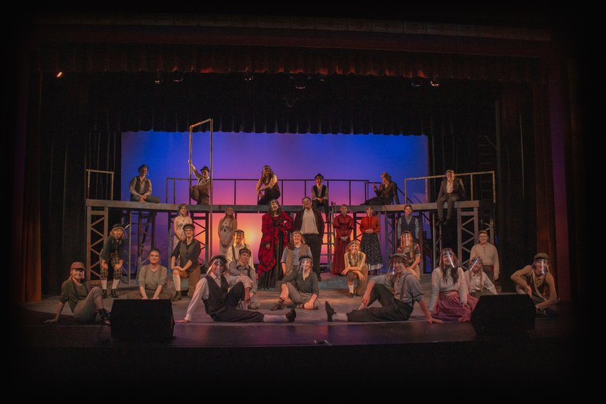 """During last year's Summer Music Theatre Camp program, students performed """"Newsies"""" with face shields."""