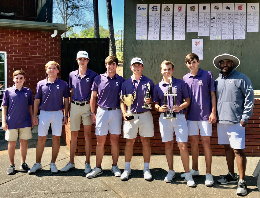 The Cartersville boys golf team dominated on its home course to win the Class 5A Area 4 championship by a whopping 52 strokes Monday at Cartersville Country Club.