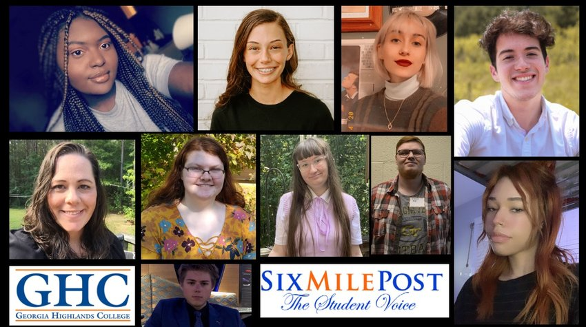 Staff members of Georgia Highlands College's Six Mile Post student newspaper took home several awards from Southern Regional Press Institute and the Georgia College Press Association this spring.