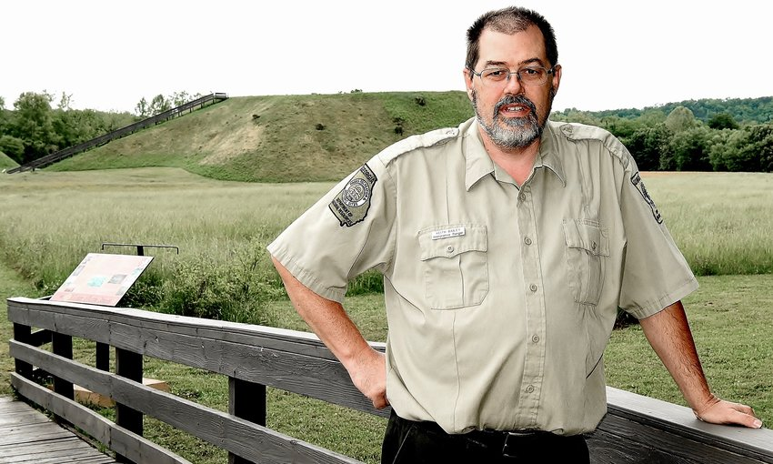 Keith Bailey is the curator for the Etowah Indian Mounds.