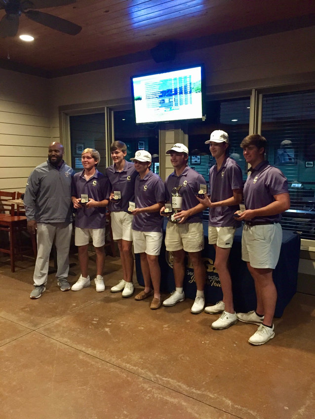 The Cartersville boys golf team poses after winning the North Georgia HS Classic May 8 at Achasta Golf Club in Dahlonega. The Canes will compete in the Class 5A state tournament Monday-Tuesday at Green Island CC in Columbus.